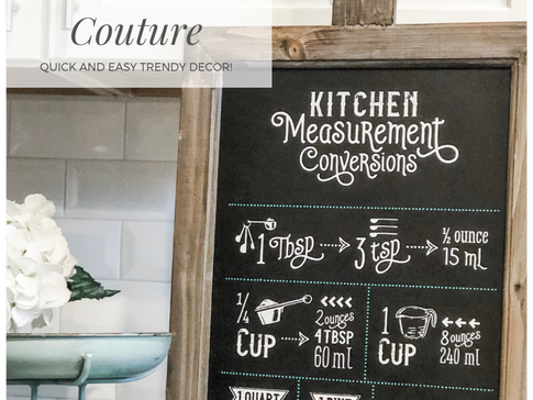 Simple Farmhouse Signs with Chalk Couture