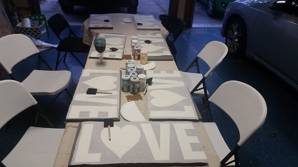 Stencils prepped and ready, your seat is saved.
