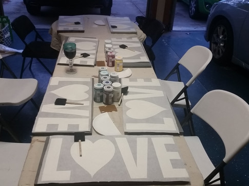 How to host a Sign Painting Party using your Silhouette or Cricut machine.