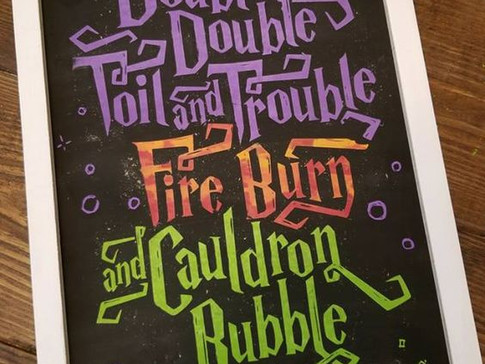 Double, Double, Toil and Trouble Sign Tutorial