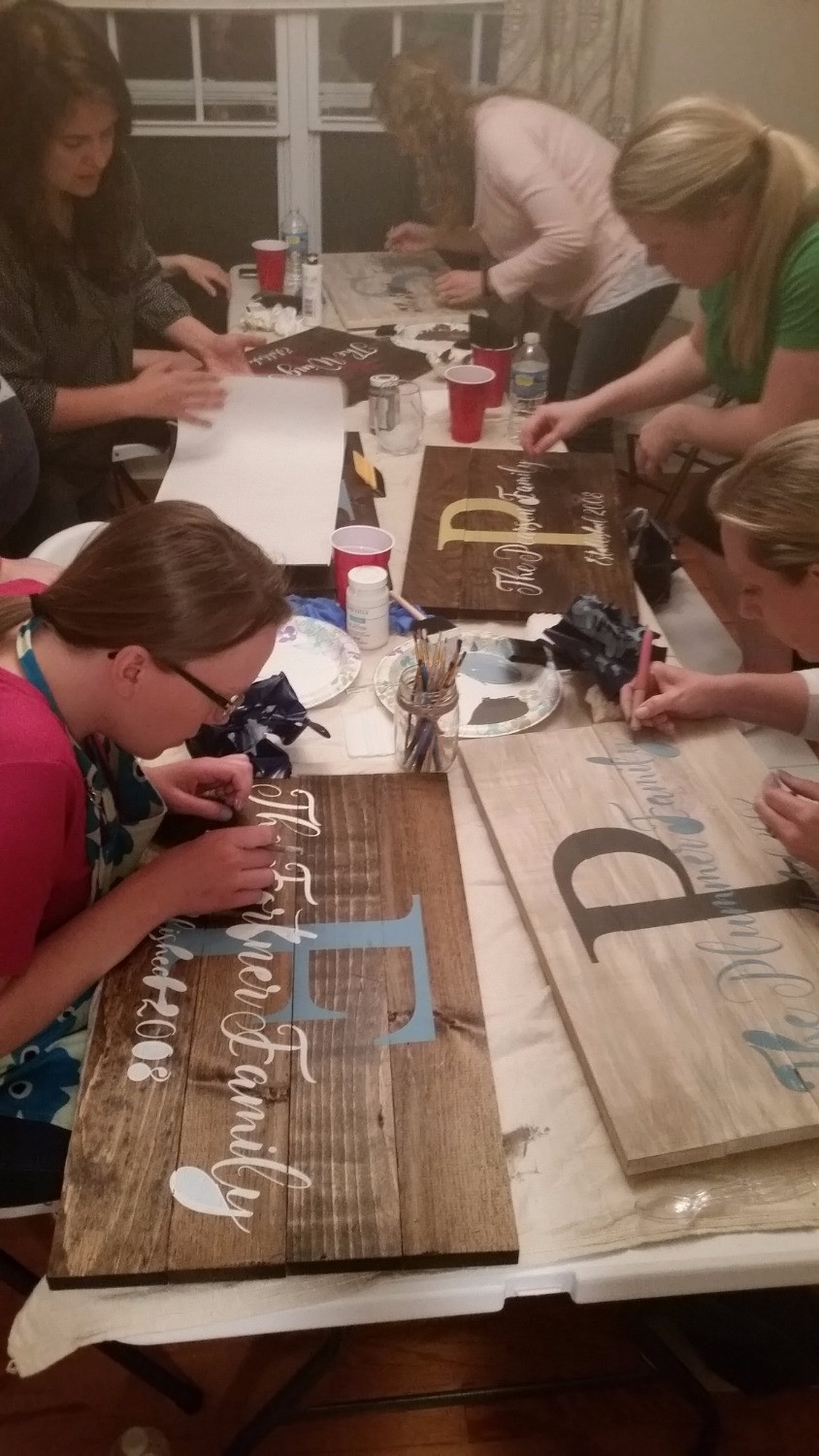 Removing our stencils and the inside of our letters! Its easy!