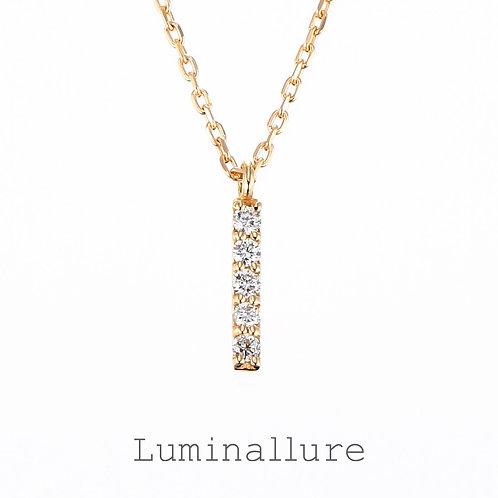 Initial Diamond Pendant 【I】 / K18YG / Total 0.03ct