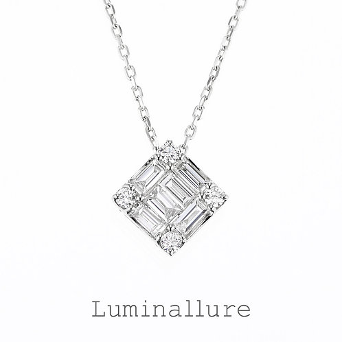 Wish Diamond Pendant / K18WG / Total 0.20ct