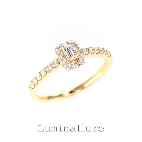 Sweet Diamond Ring / K18YG / 0.10 + 0.30ct