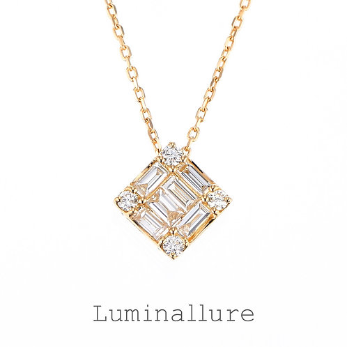 Wish Diamond Pendant / K18YG / Total 0.20ct