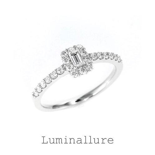 Sweet Diamond Ring / PT900 / 0.10 + 0.30ct