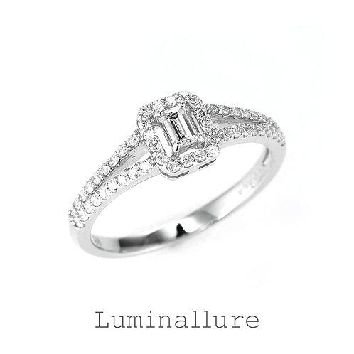 Lady Diamond Ring / PT900 / 0.10 + 0.25ct