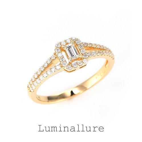 Lady Diamond Ring / K18YG / 0.10 + 0.25ct