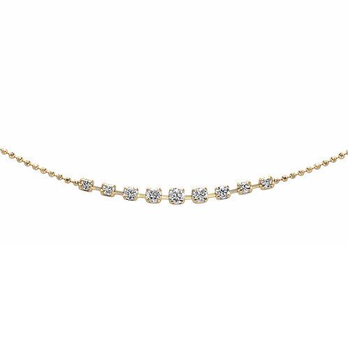 ダイヤモンドラインブレスレット / K18YG / Total 0.24ct