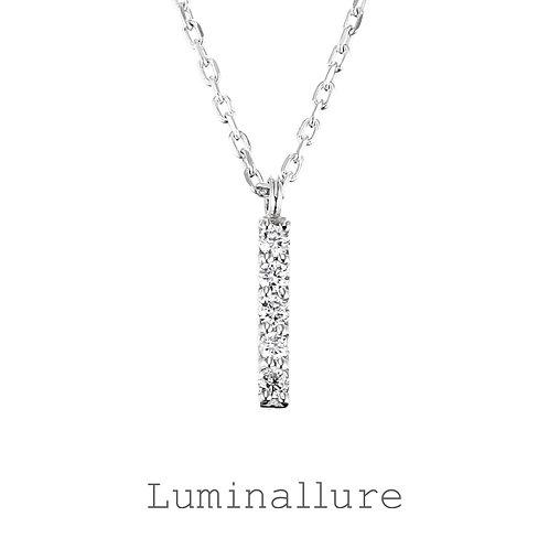 Initial Diamond Pendant 【I】 / K18WG / Total 0.03ct
