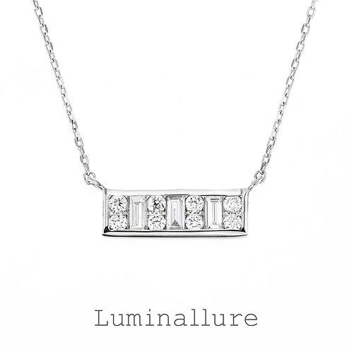 Aya Diamond Pendant / K18WG / Total 0.20ct