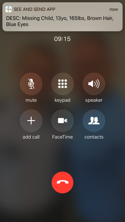 Notification while on the phone