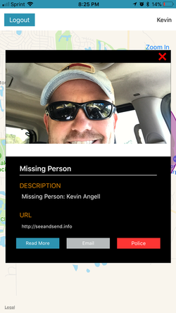 Pop Up missing Person