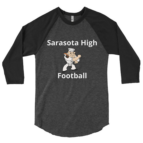 3/4 sleeve football with logo