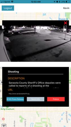 Shooting App Notification