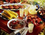 gedekte catering tafel