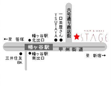 幡ケ谷店STAGE 地図