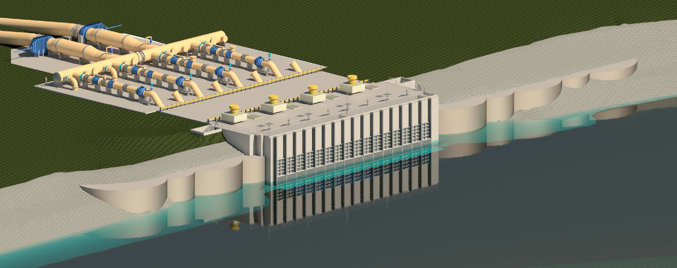 CWA Capers Ridge Intake Structure and Pump Station Rendering