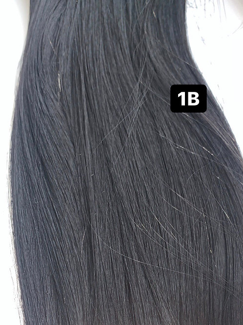 """Curly 18"""" Hair Extensions - W1B - Black"""
