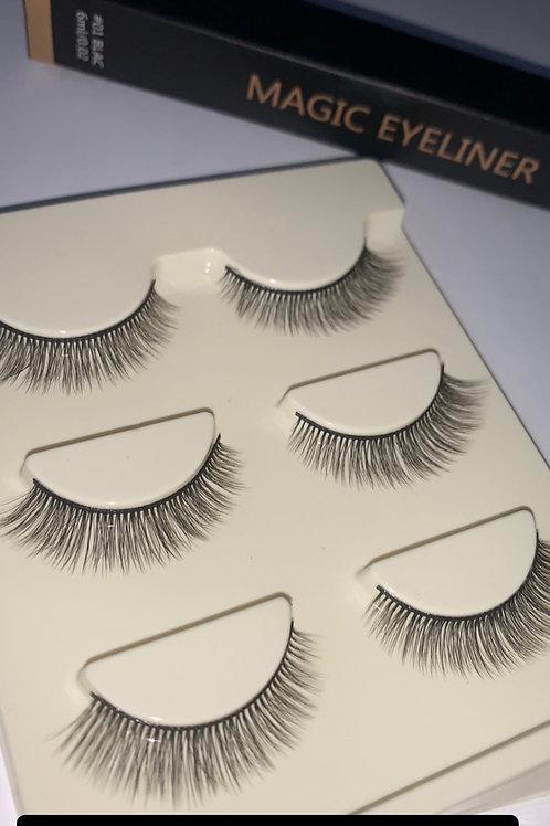 Lash No.9 - 3 x Eyelashes ONLY