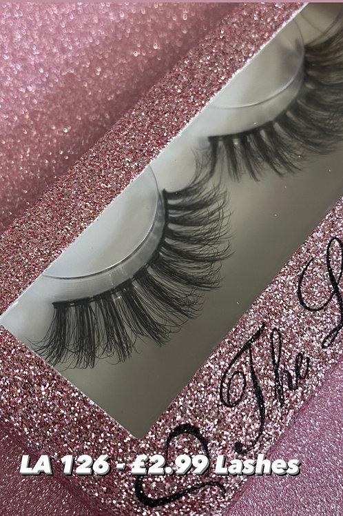 LA 126 gappy Fluffy eyelashes , strip lashes