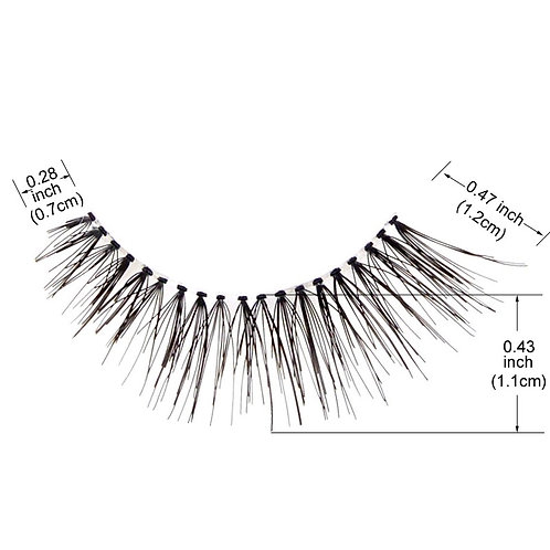 1 x Clear Band Pairs of Lashes