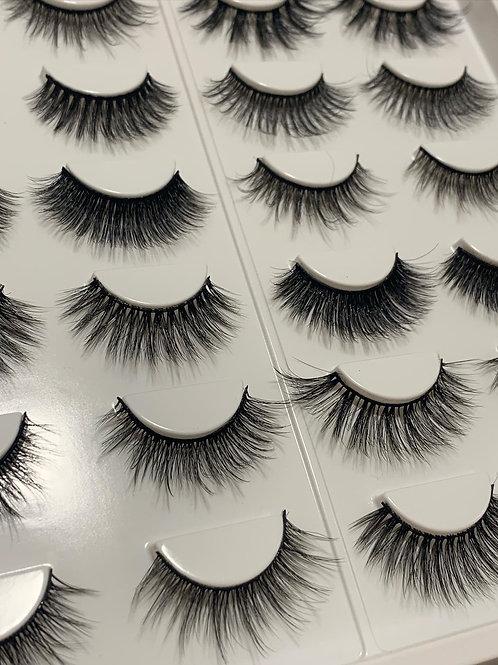 16 x Lashes & Magic eyeliner self adhesive
