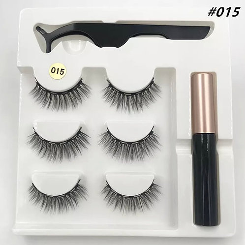 Magnetic Lashes SMALL x 3 Pairs 1 tweezer & Glue Style 15