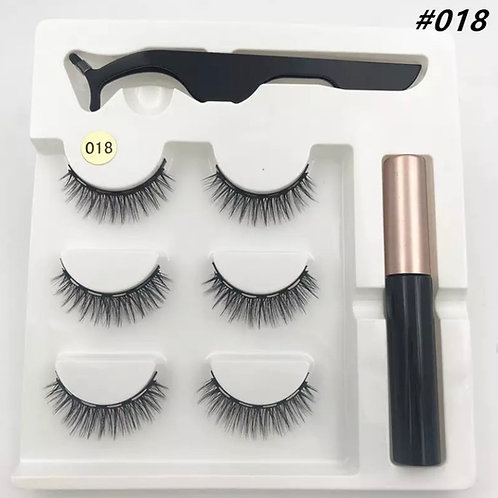 Magnetic Lashes SMALL x 3 Pairs 1 tweezer & Glue Style 18