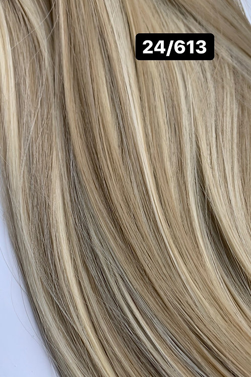 """Curly 22"""" Hair Extensions - 24/613"""