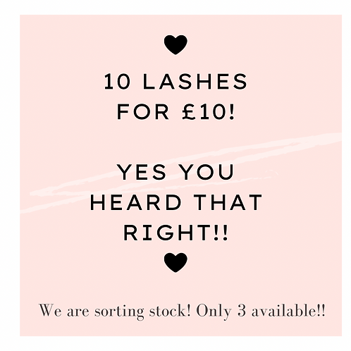 10 Lashes for £10