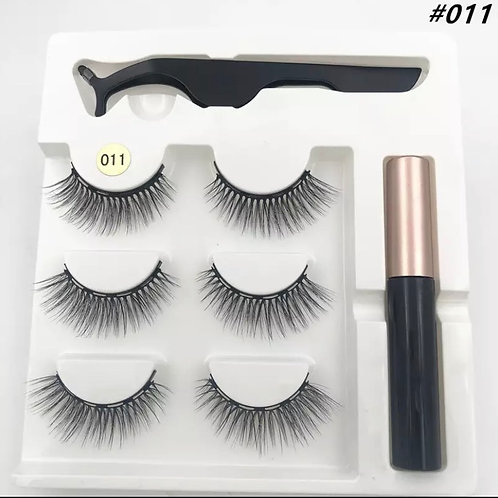 Whispy Magnetic Lashes SMALL x 3 Pairs 1 tweezer & Glue style 11