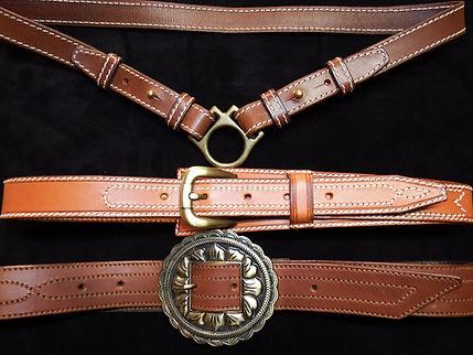 Réalisation de ceinture cuir sur mesure