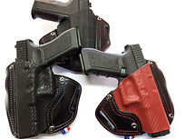 holster cuir kydex