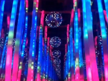 There's An Immersive Music Visualization Installation At Wunder Garten