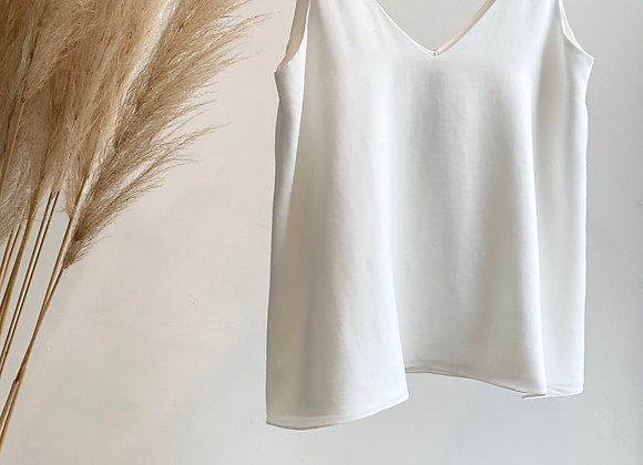BLUSA DE ALÇA LARGA - OFF WHITE