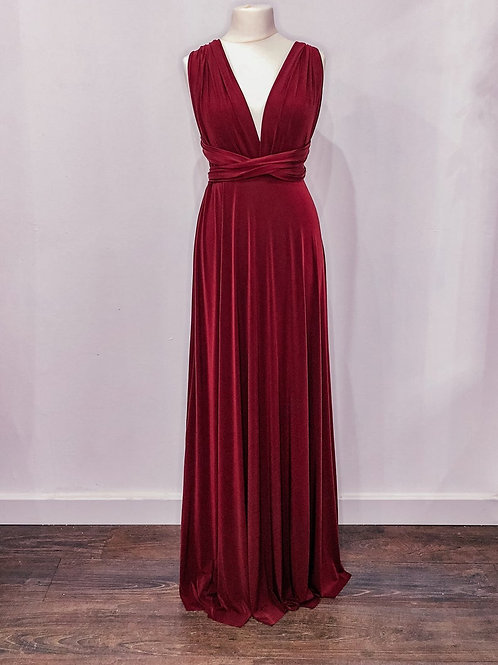 Burgundy Multiway with tulle