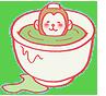 入浴するお猿さん