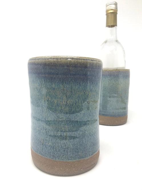 Wine brick/Utensil Holder in Rutile Blue