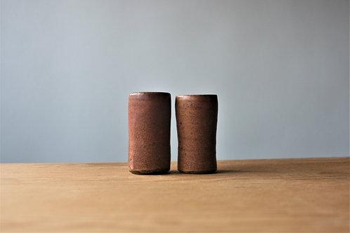 2 shot glasses in bone ash