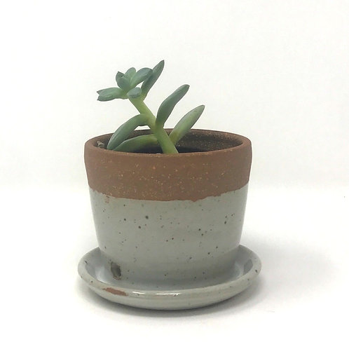 Planter in Chun White