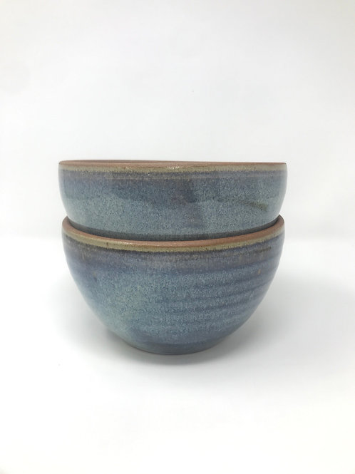 Salad Bowls in Rutile Blue