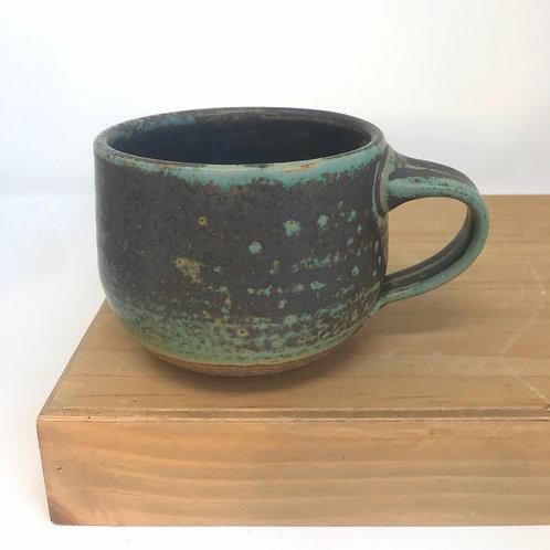 10oz Mug in dark Joe's Green
