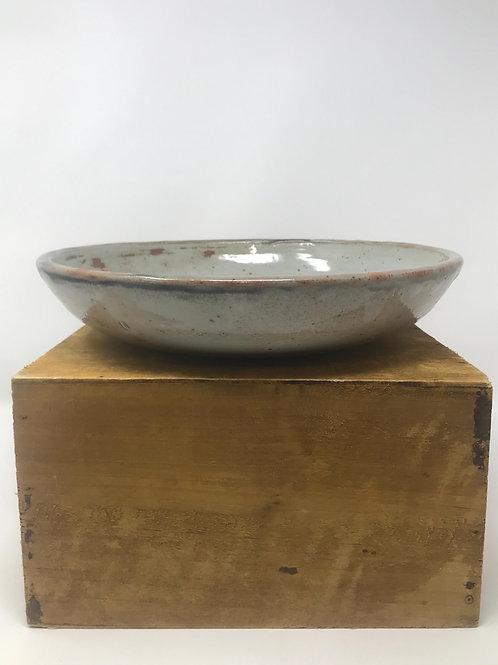 Serving Bowl in Shino and Chun White