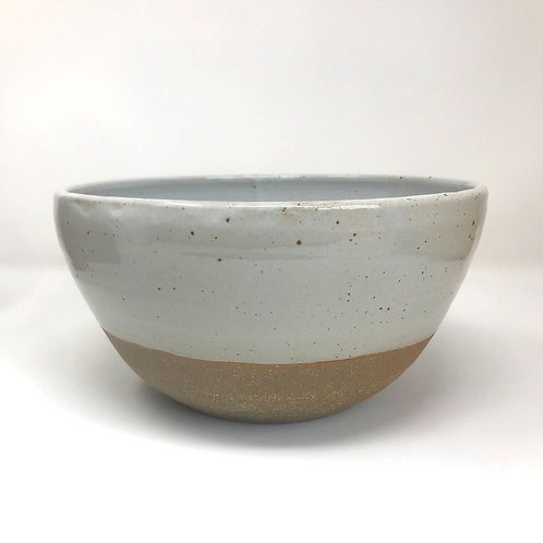 Serving Bowl in Chun White