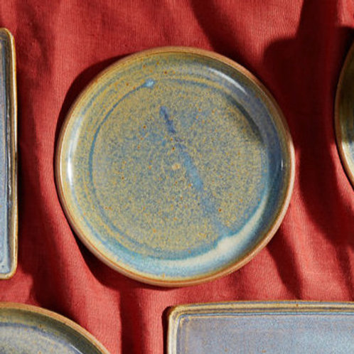 Side Plate in Rutile Blue