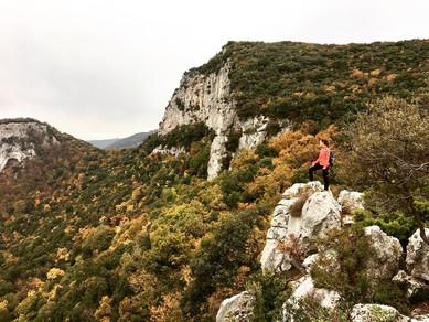 Wandern in Finale Ligure, Italien