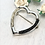 Thumbnail: Heart Brooch in Sterling Silver with a Braid of Horse Hair
