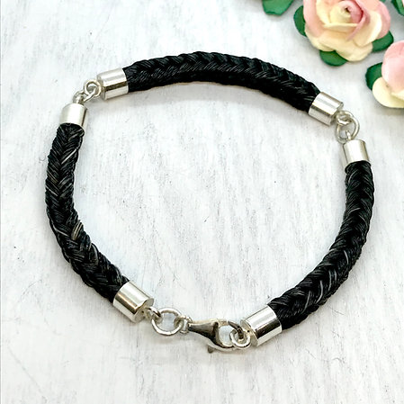 3 Section Bracelet with Sterling Silver fittings