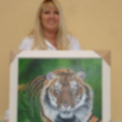 Me holding the Tiger painting